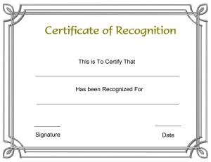 Certificate of recognition template free formats excel word download certificate of recognition template yadclub Images