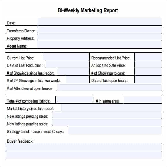 Marketing Report Template  Free Formats Excel Word