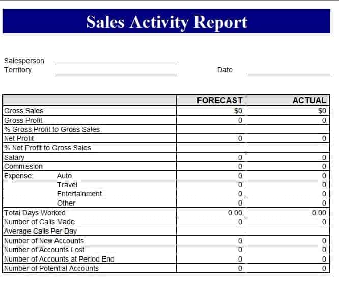 Sales Revenue Report template Free Formats Excel Word – Sales Weekly Report Template