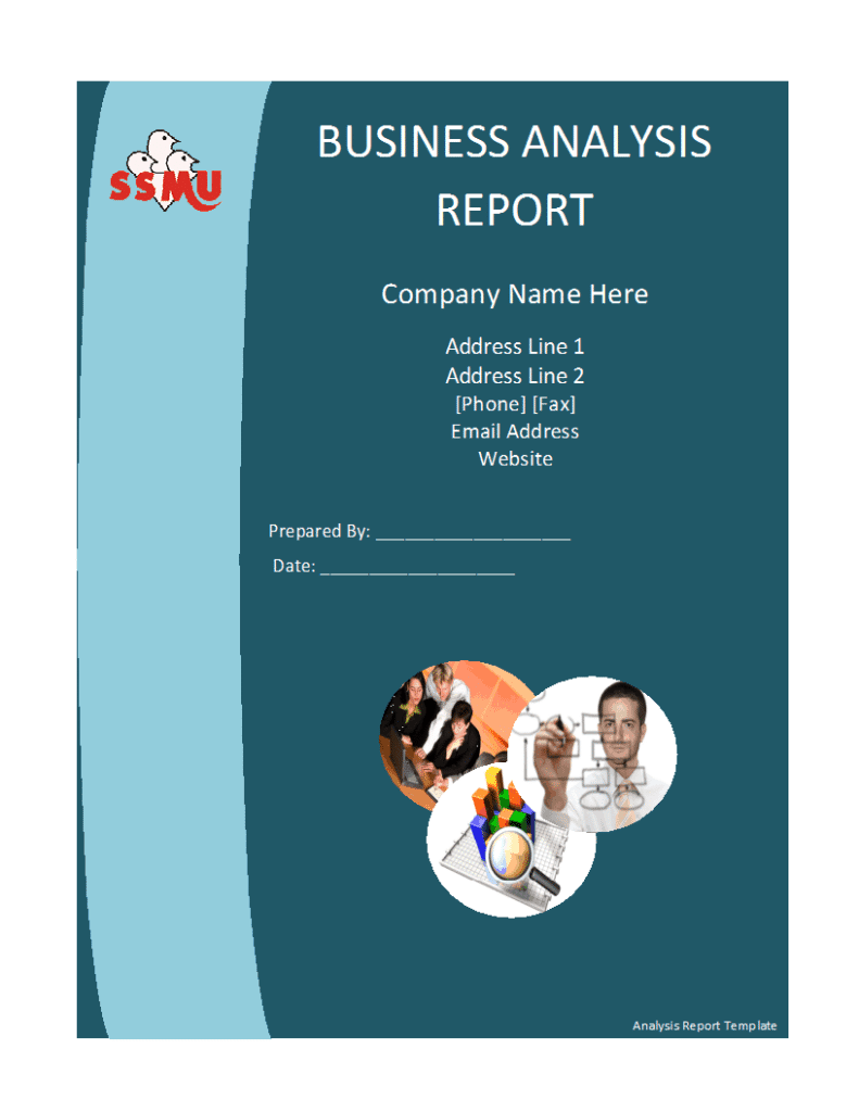 Sample Templates  Business Analysis Report Example