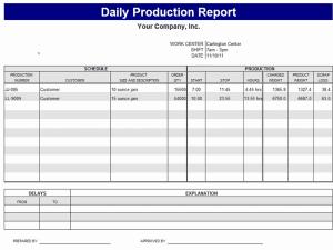 Work Report Template