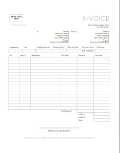 consulting invoice template image