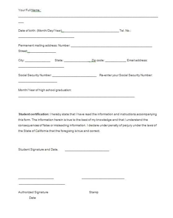 Verification Forms Template - Free Formats Excel Word