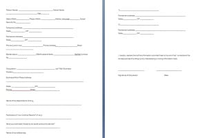 Police Verification Form Template