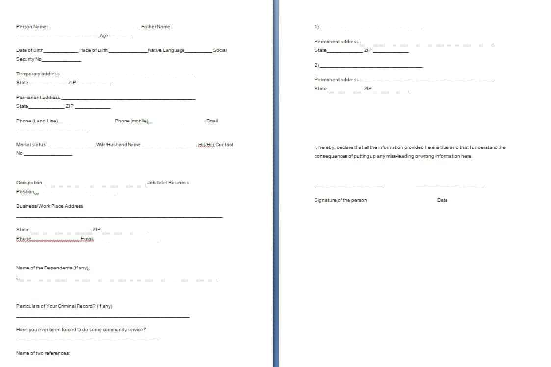 Sample Templates  Forms Templates Word