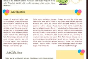 Kindergarten Newsletter Templates