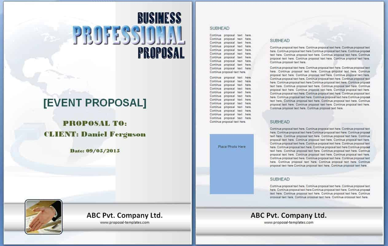 Event Proposal Template Free Formats Excel Word – Event Proposal Samples