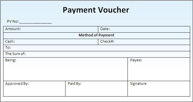 6 Payment voucher templates Word Excel Formats - Free Formats Excel Word