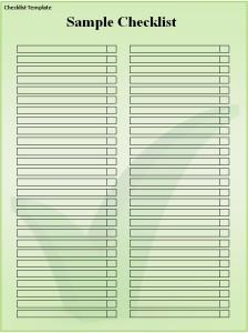 4 Checklist templates Word Excel - Free Formats Excel Word