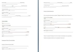 Tenant verification form template