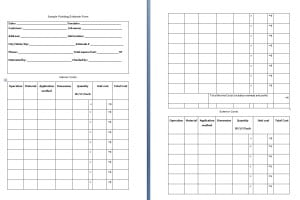 Painting Estimate Form Template
