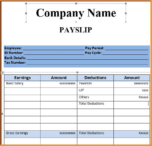 6+ Payslip templates Word Excel - Sample Templates